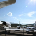 Private jets at the Aspen Airport
