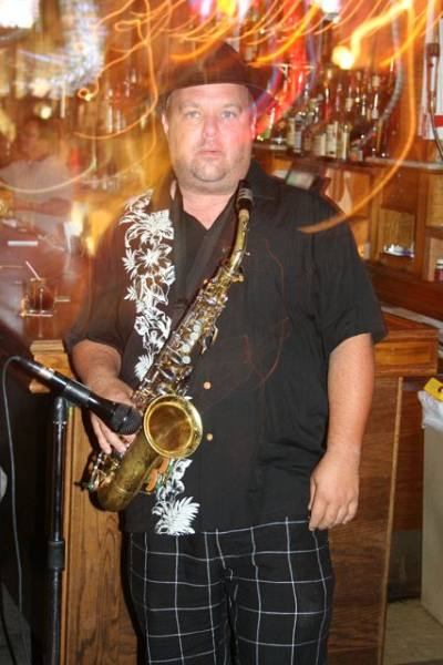 """Sax player for the """"Heavy Cats"""""""