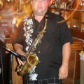 "Sax player for the ""Heavy Cats"""