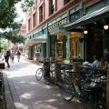Pearl street in Boulder, Colorado