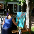 Artist painting in Boulder, Colorado