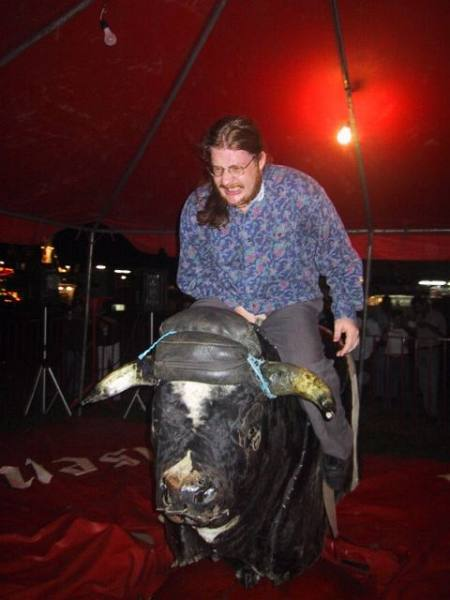Allen out of control on the mechanical bull.jpg