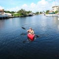 Kayaking on our canal