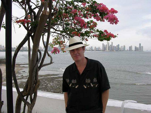 Pat in Casco Viejo with Panama City in background.jpg