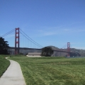 Golden Gate Bridge and pathway