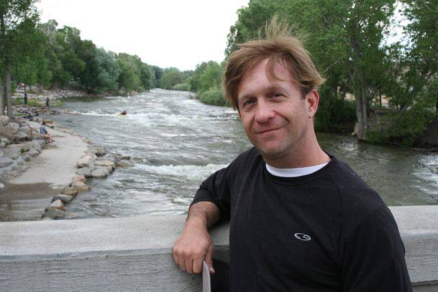 Rick on the bridge over the Arkansas River