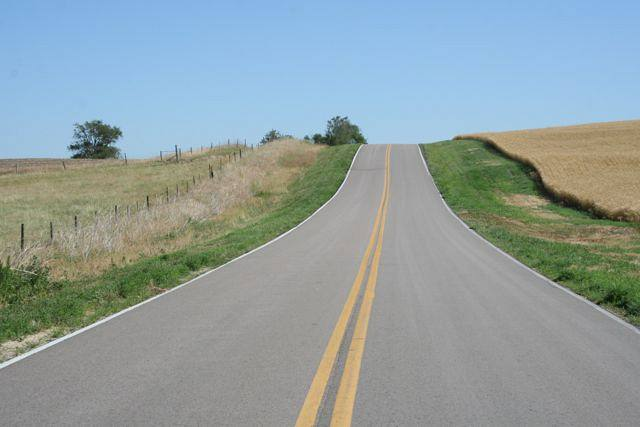 Country road in Nebraska